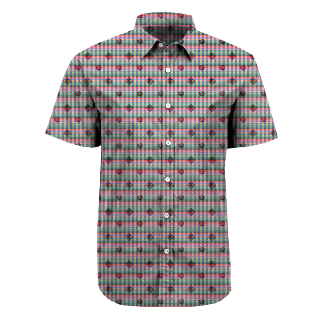 Red and Friends Short Sleeve Printed Shirt