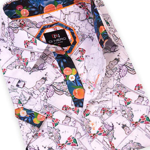 Bow-S Map DiNero Short Sleeve Printed Shirt