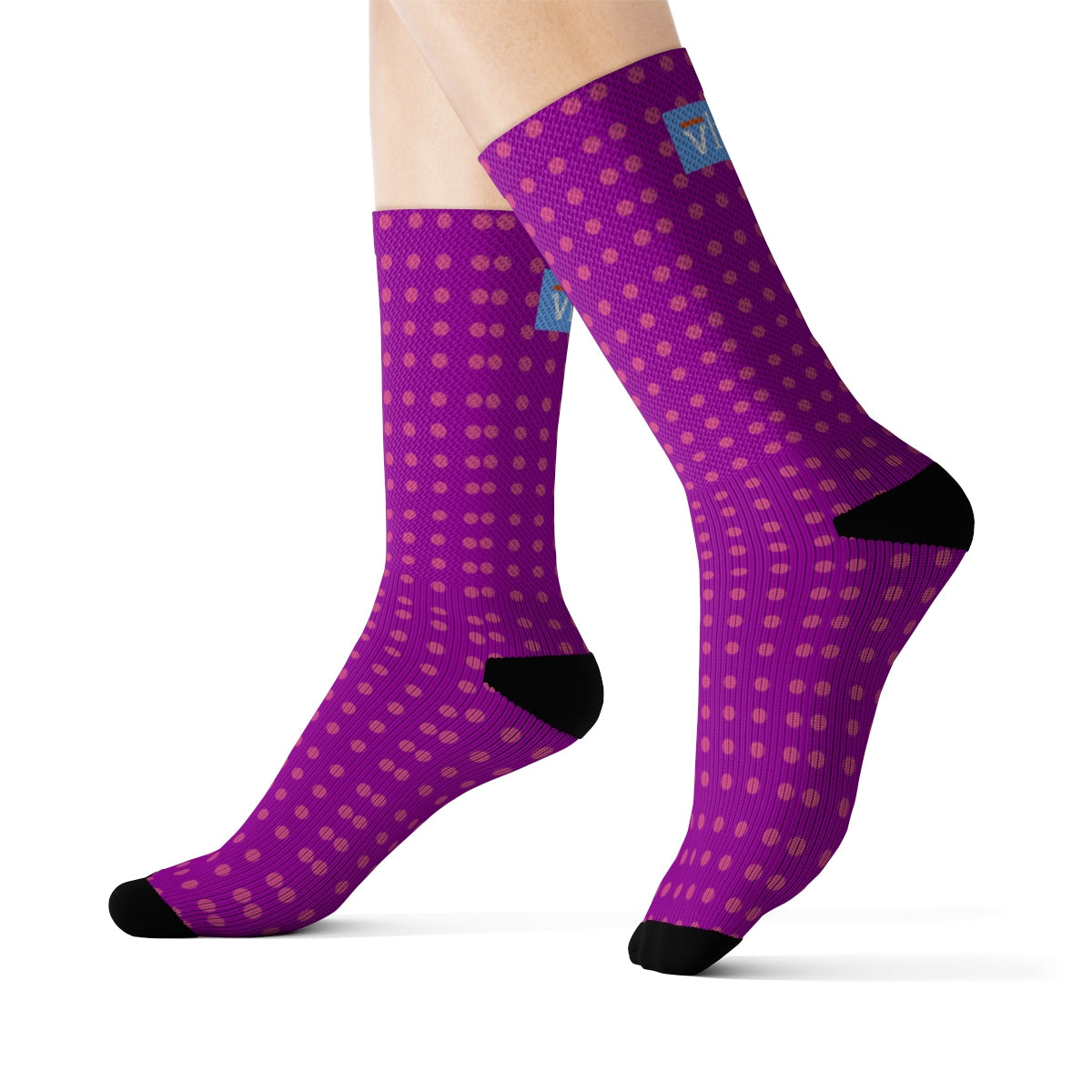 Vluxe DaDot Hot Pink Purple Socks