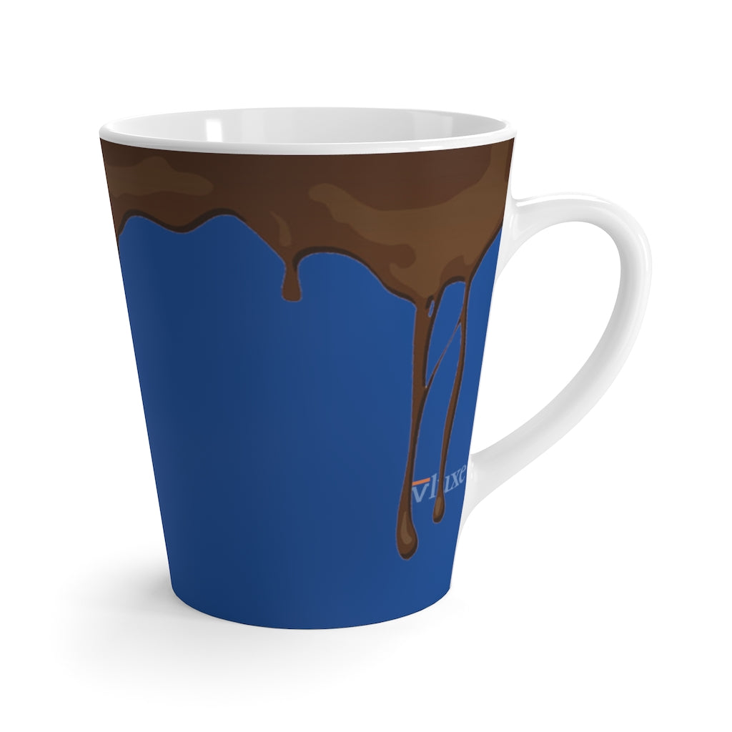 Dripped Blue Sea Latte Mug from Vluxe by Lucky Nahum
