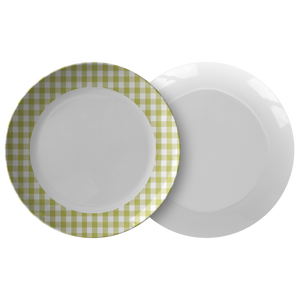 Sartorially Checked Lime Plate