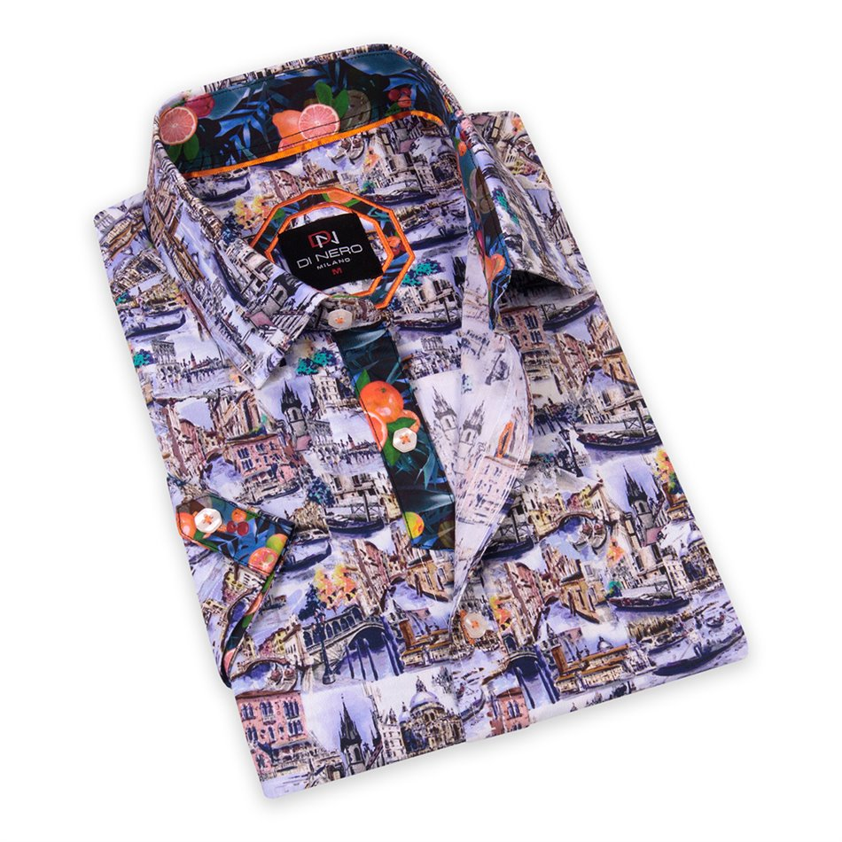 City-S Multi DiNero Short Sleeve Printed Shirt