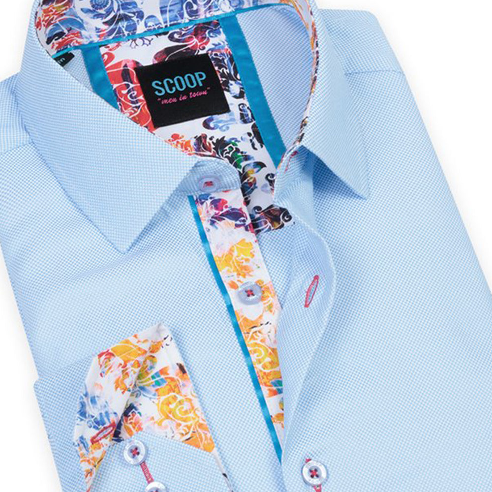 Colton Sky Scoop Printed Shirt
