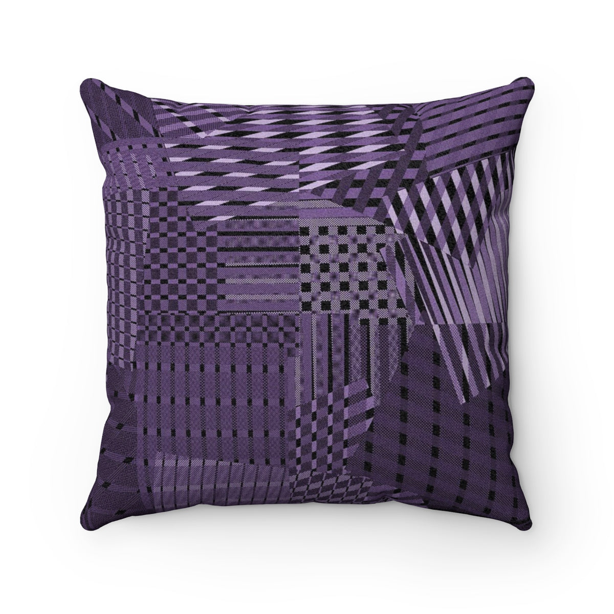 Rags 2 Riches Purple Rain Faux Suede Square Pillow