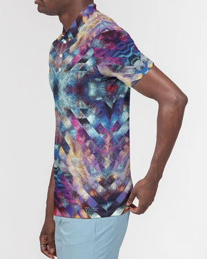 Astro Men's Slim Fit Short Sleeve Polos from Vluxe by Lucky Nahum