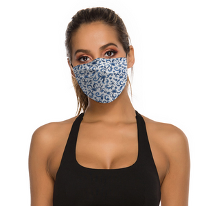 Tapestry Blue Face Cover with Filter Element for Adults from Vluxe by Lucky Nahum