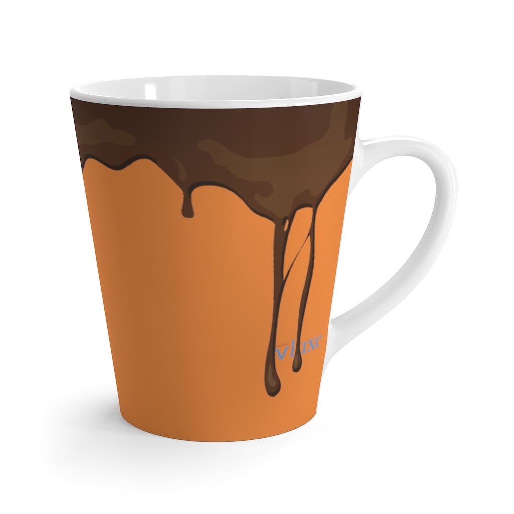 Spill Orange Glow Latte Mug from Vluxe by Lucky Nahum
