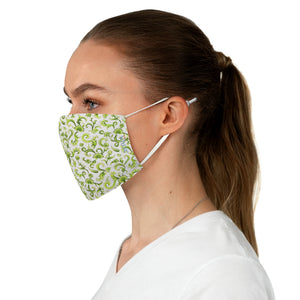 Tapestry Green Double Layer Fabric Face Mask from Vluxe by Lucky Nahum