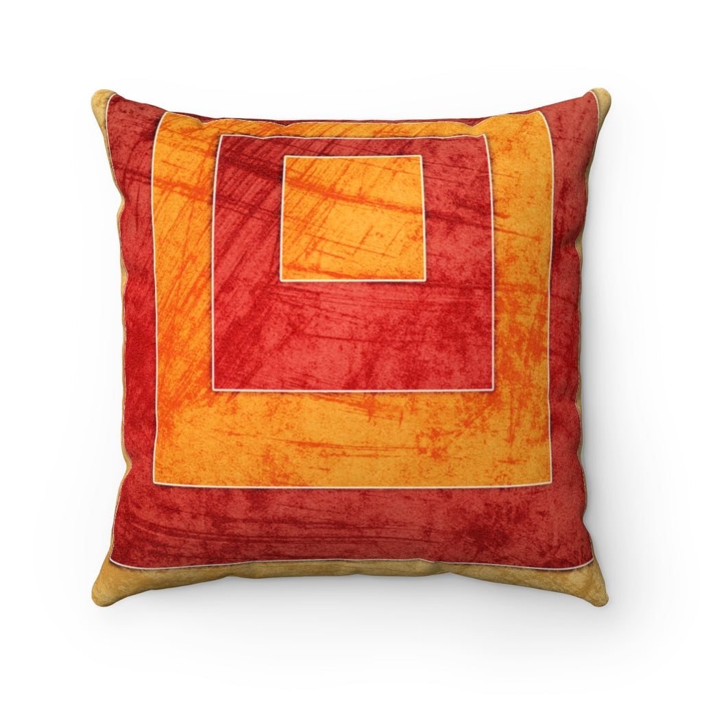 Roman Holiday Faux Suede Square Pillow Vluxe by Lucky Nahum