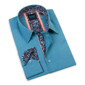 Solid With Contrast Fabric Gordo Teal