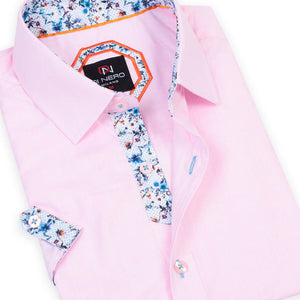 Len-S Rose DiNero Short Sleeve Printed Shirt