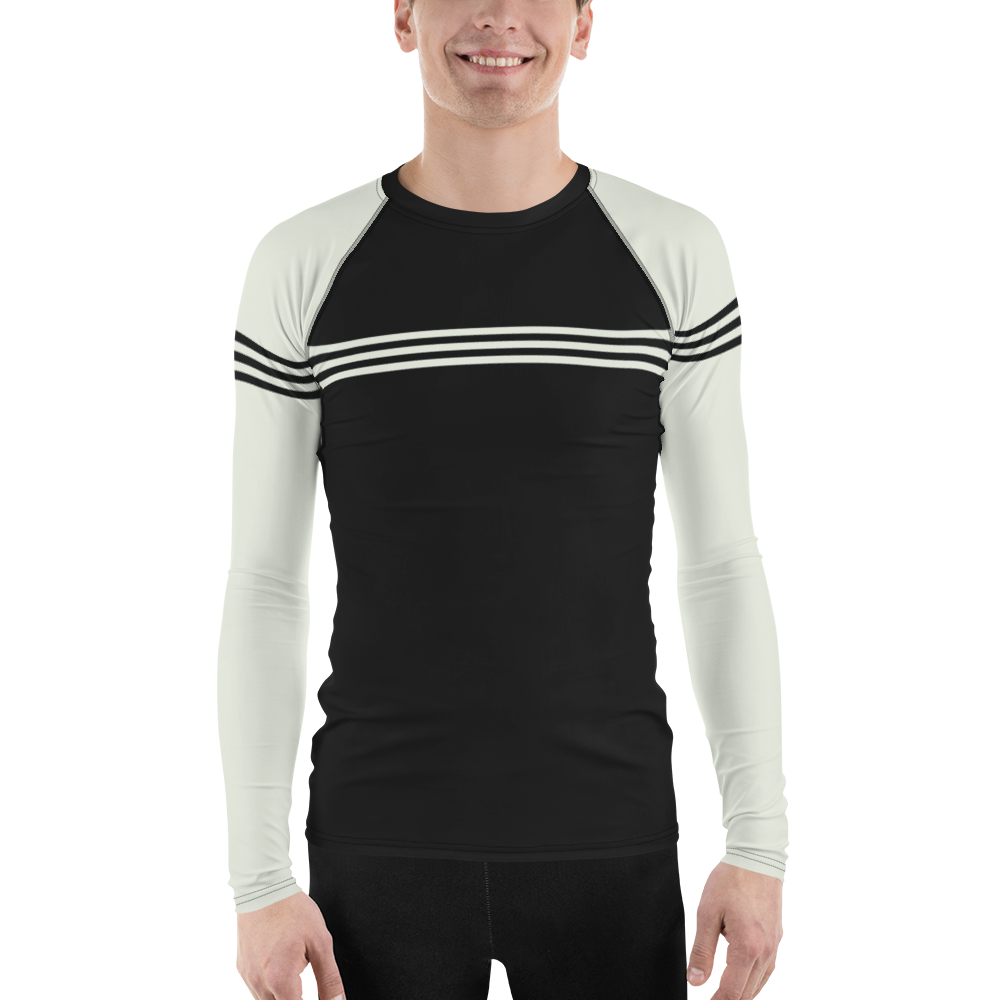 Trio VLK906B Men's Long Sleeve Rash Guard