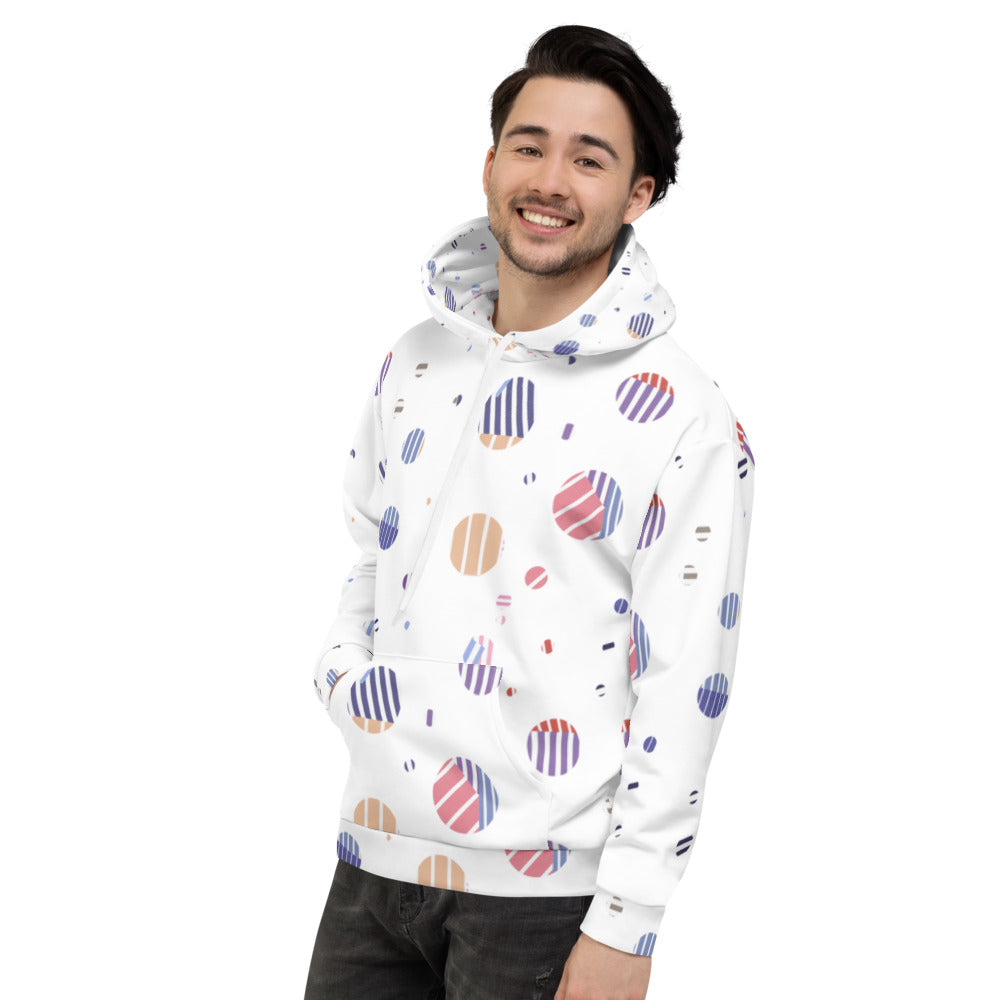 Striped Planets Unisex Hoodie