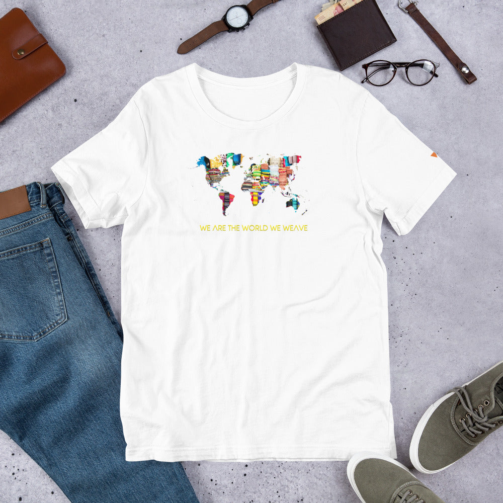 We Are The World We Weave Short-Sleeve Unisex T-Shirt from Vluxe by Lucky Nahum