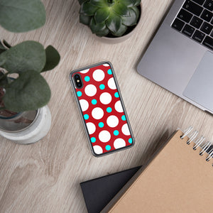 DaDOT .003 iPhone Case Red/Acqua