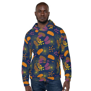 Lucky Camo Navy Multi Unisex Hoodie from Vluxe by Lucky Nahum