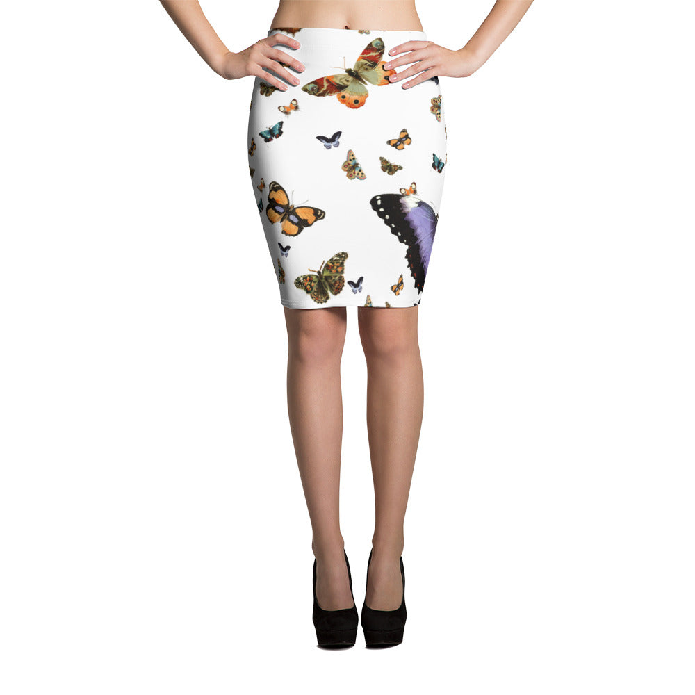 Nadreaming Butterfly Pencil Skirt