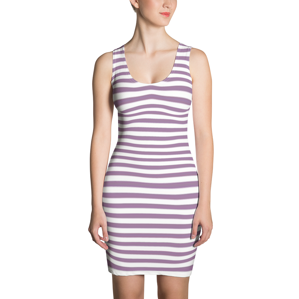 VLUXE CLASSIC STRIPE PURPLE DRESS