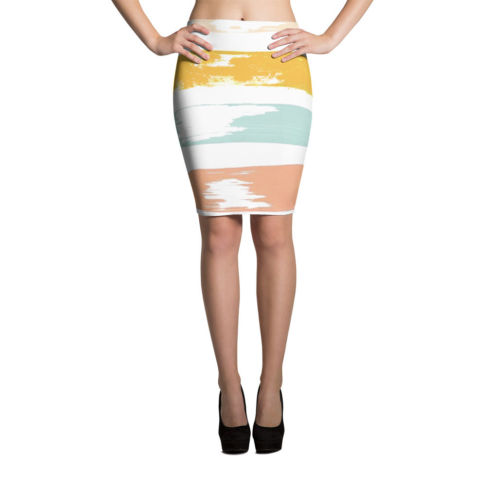 Painted Pencil Skirt