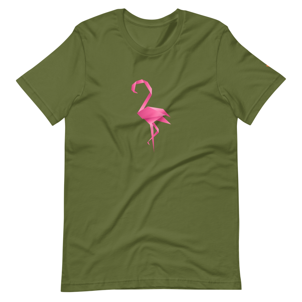 Flamingo Short-Sleeve Unisex T-Shirt from Vluxe by Lucky Nahum