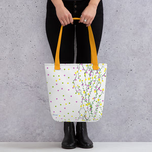 Polka Garden Tote Bag from Vluxe by Lucky Nahum