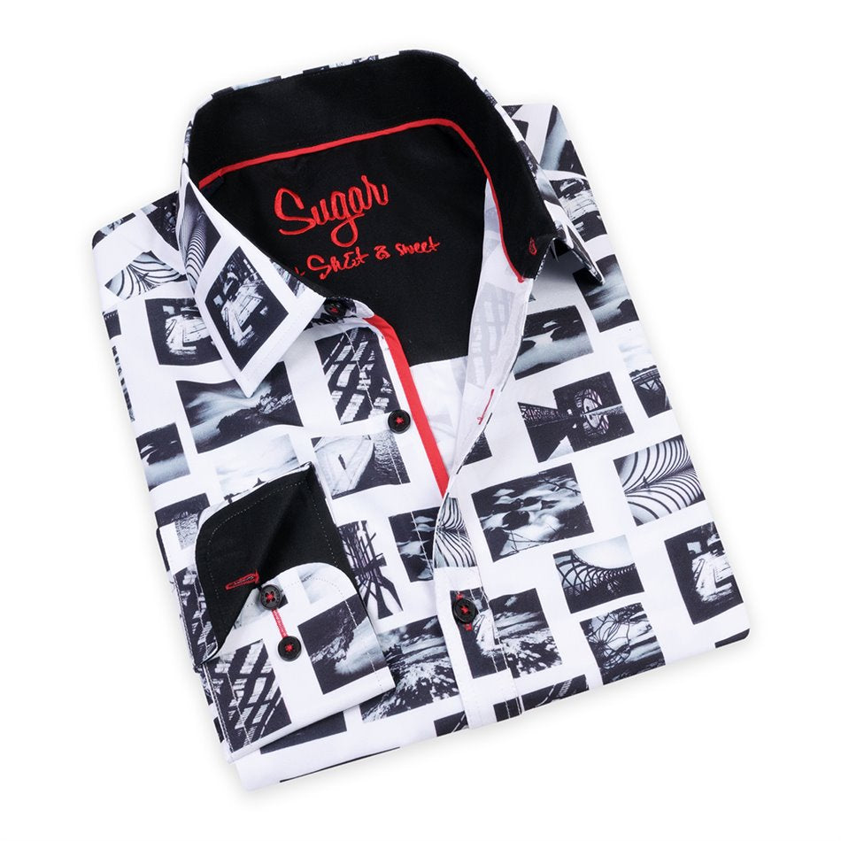 Pics Black Sugar Printed Shirt