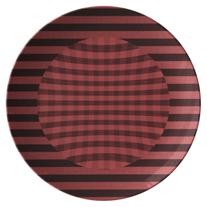 Chemise Red Dinner Plate from Vluxe by Lucky Nahum