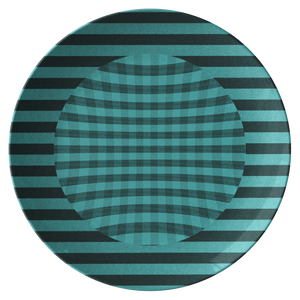 Chemise Teal Dinner Plate from Vluxe by Lucky Nahum