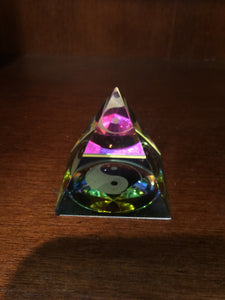 Yin Yang Magical Aura Pyramid - Satori Art Decor