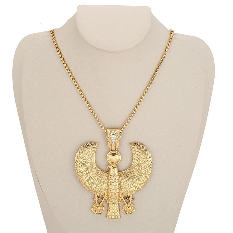 Egyptian Horus Falcon Ankh Pendant Necklace - Satori Art Decor