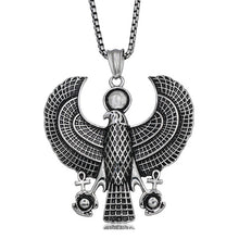 Vintage Egyptian Horus Falcon Holding Ankh Pendant Necklace - Satori Art Decor