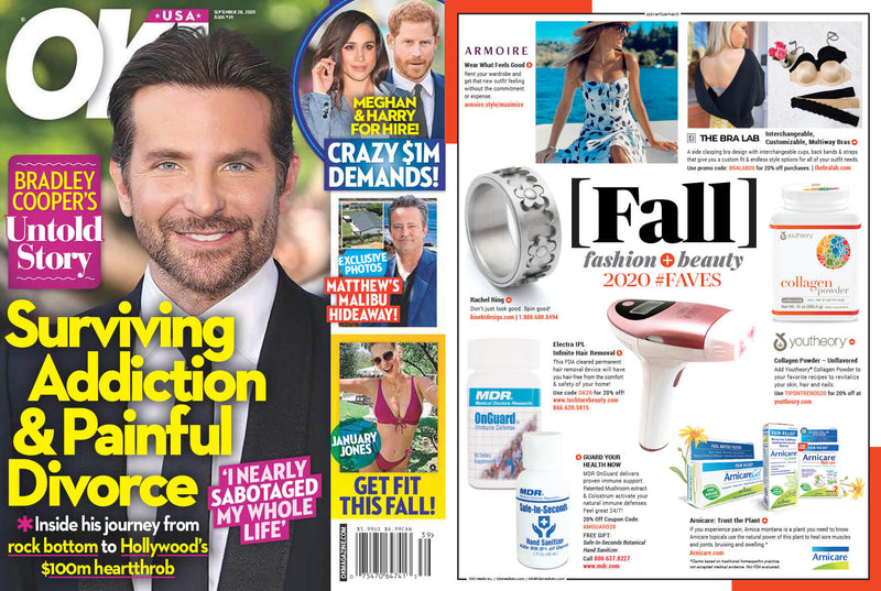 OK! Magazine loves Techture Beauty's New Device – the Electra IPL Infinite Hair Removal!