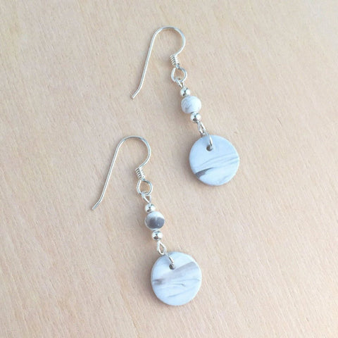 Mini Peaceful Landscape Earrings + Cloud