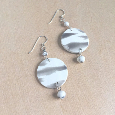 Celebrated Lady Tranquil Charm Earrings in Cloud