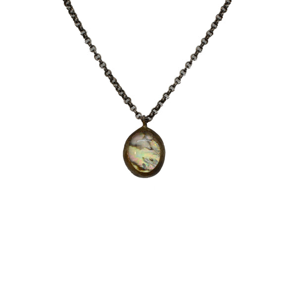 Abalone + Quartz Necklace {One of a Kind}
