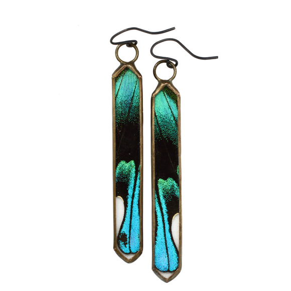 Peacock Swallowtail Cathedral Earrings {One of a Kind}