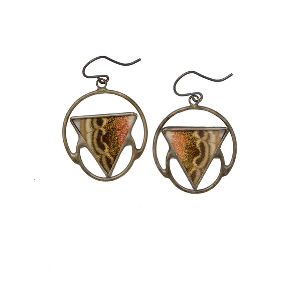 Atlas Moth Soli-Lunar Earrings {One of a Kind}