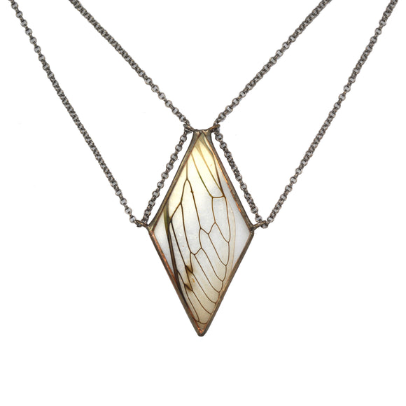 Cicada Tethered Diamond Necklace {One of a Kind}