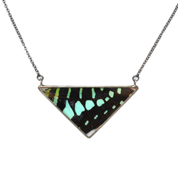 Aqua Green Graphium Butterfly Necklace {One of a Kind}