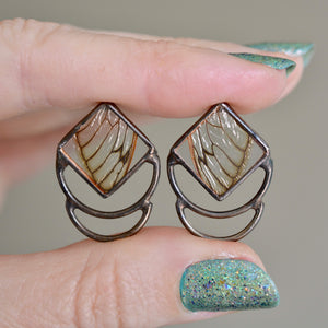 Cicada Polarity Earrings {One of a Kind}