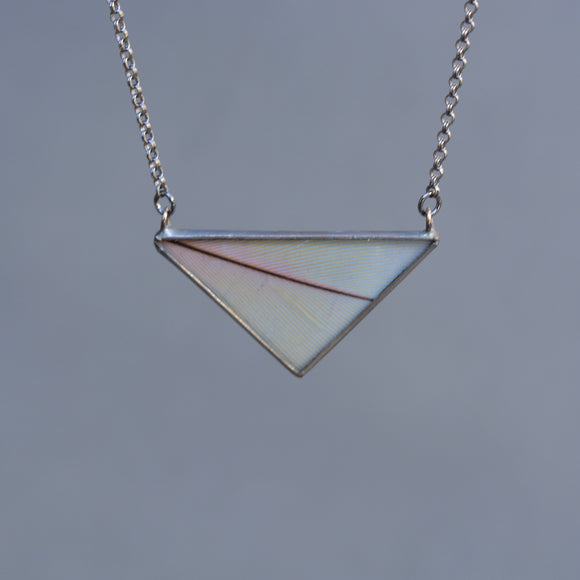 Macaw Feather Triangle Necklace - Ready to Ship