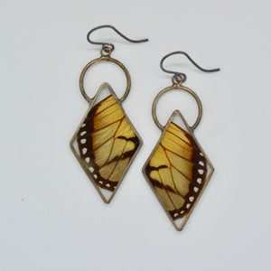 Glasswing Butterfly Diamond Earrings  {One of a Kind}