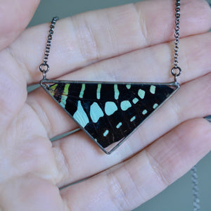 Emerald Graphium Butterfly Necklace {One of a Kind}
