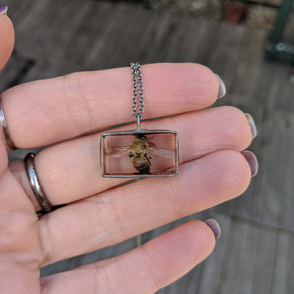 Bee Necklace - Wings Outstretched