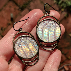Iridescent Concentric Serpent Earrings