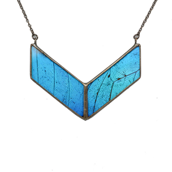 Blue Morpho Parallel Alchemy Necklace {One of a Kind}