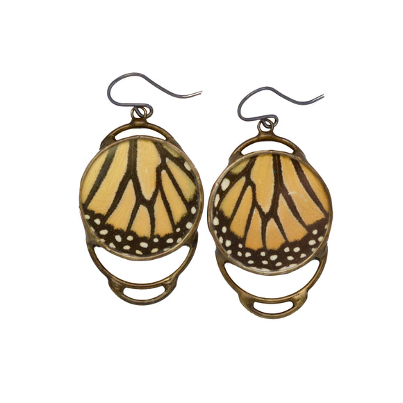 Monarch Butterfly Concentric Earrings - {One of a Kind}