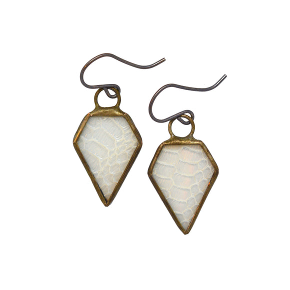 Prism Snakeskin Earrings {One of a Kind}