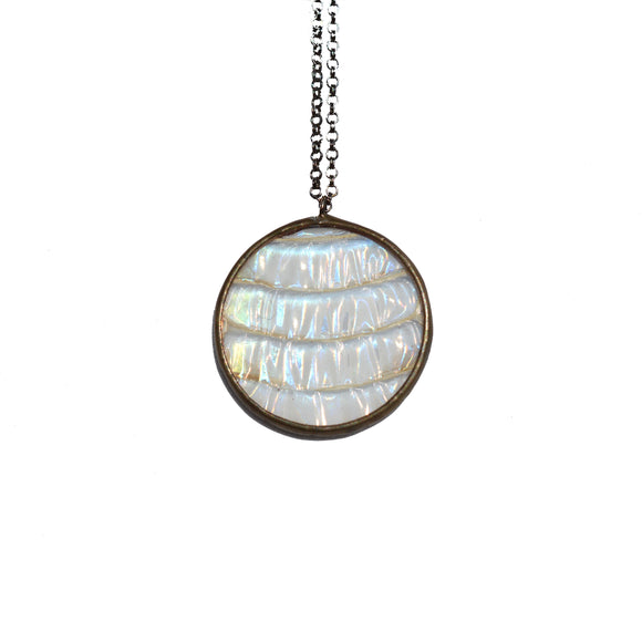 Iridescent Rondure Snakeskin Necklace {One of a Kind}