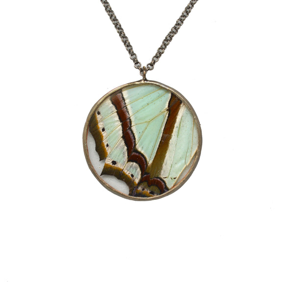 Rondure Mint Green Charaxes Necklace {One of a Kind}